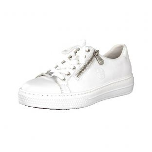 Rieker L59L1-80 White Casual Shoes with Zipper
